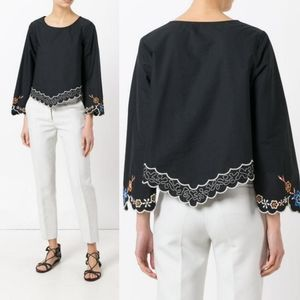 See by Chloe Floral Embroidered Cotton Top